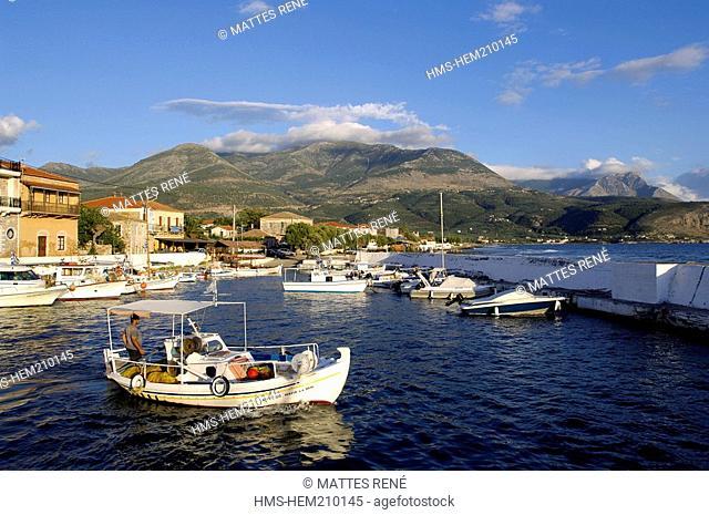 Greece, Peloponnese, Mani area, Agios Nikolaos, port