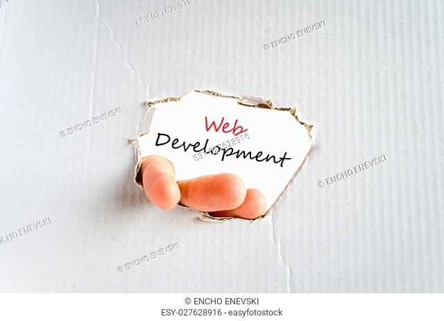 Development text concept isolated over white background