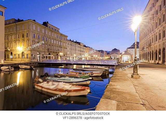 Europe, Italy, Friuli Venezia Giulia. The Grand Canal in Trieste