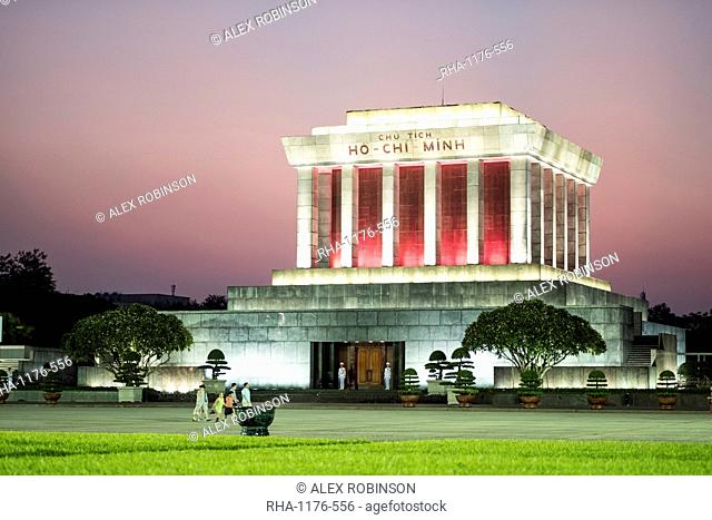 The mausoleum to Ho Chi Minh in Hanoi, Vietnam, Indochina, Southeast Asia, Asia