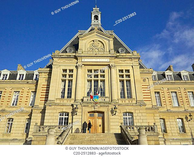 Town hall facade , Evreux, 27, Eure, Normandy, France