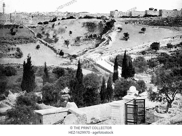 The Garden of Gethsemane and the Holy City of Jerusalem, 1926. From An Outline of Christianity, The Story of Our Civilisation