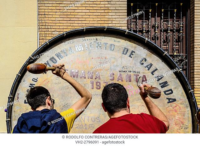 Drum and Bass Drum Route in Calanda, Spain