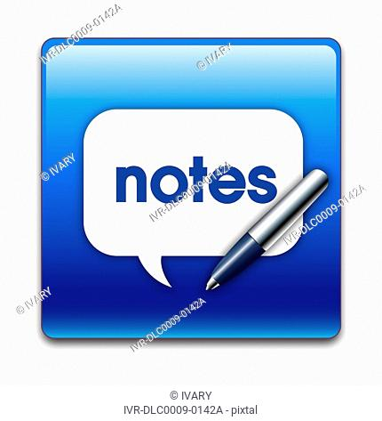 Illustration of notes icon