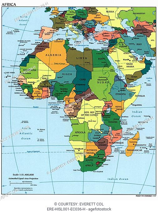 Map Of Colonial Africa Stock Photos And Images Age Fotostock