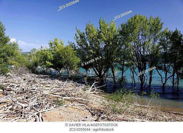 Lake of embalse de Yesa, Pyrenees, Huesca, Aragon, Spain