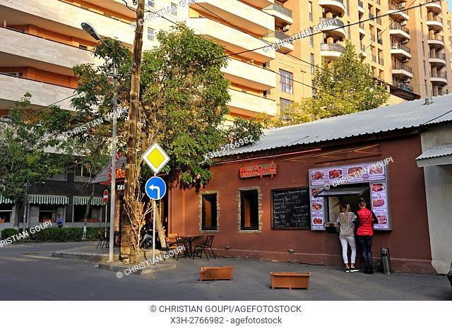 bar and fast-food, Yeznik Koghabatsi street, Yerevan, Armenia, Eurasia