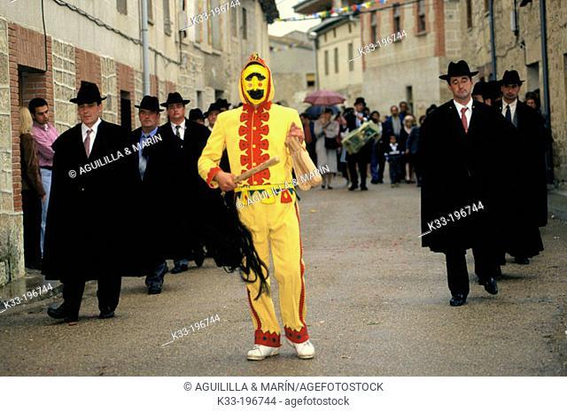 'El Colacho', carnival. Castrillo de Murcia. Burgos province. Spain