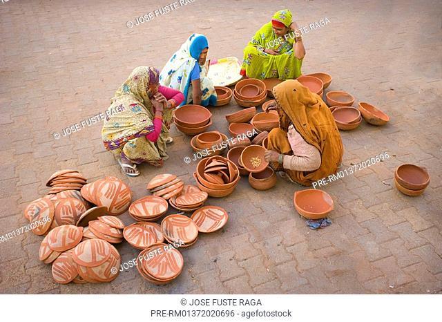 Local Market in Orcha City, Madhya Pradesh, India, Asia