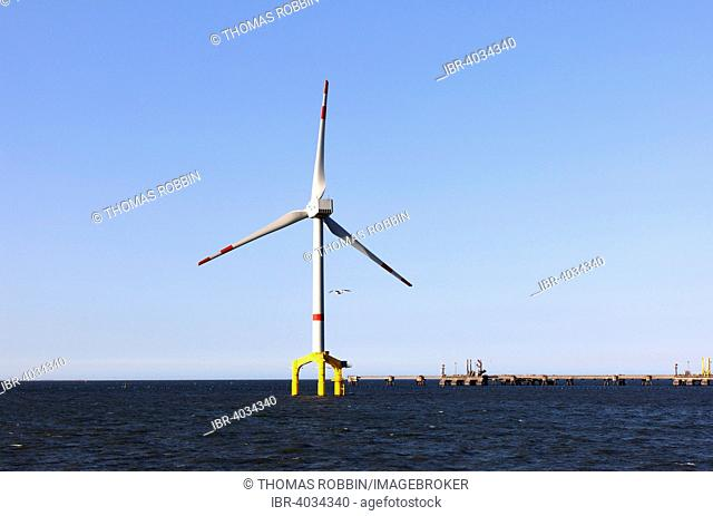 Offshore wind power station in the North Sea, near Wilhelmshaven, Lower Saxony, Germany