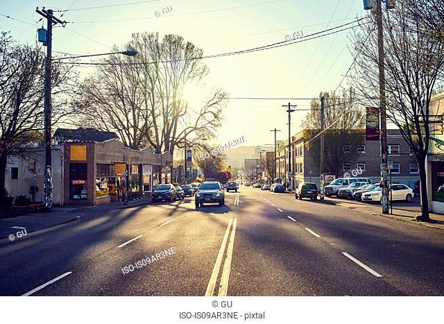 Street scene, Portland, Oregon, USA