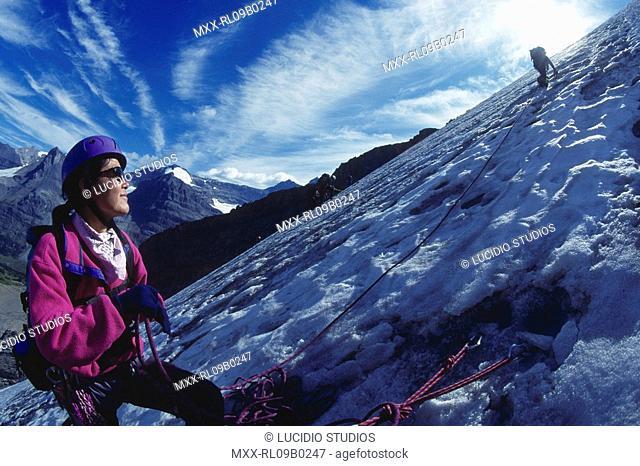 Rock Climbing in Canadian Rockies, Mt. Alexandra and Whitrose Mountian, near Banff National Park