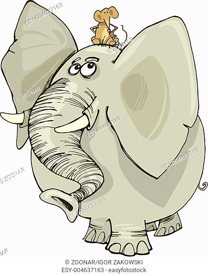 elephant with mouse