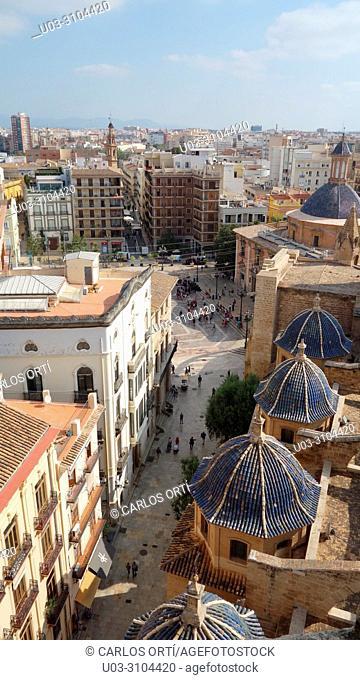 Basílica de los Desamparados in Valencia, a church at the rear side of its Cathedral, Spain, Europe