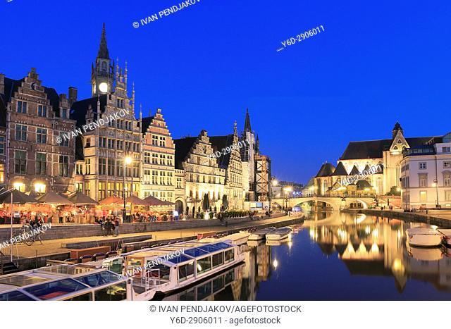 Ghent at Dusk, Flanders, Belgium