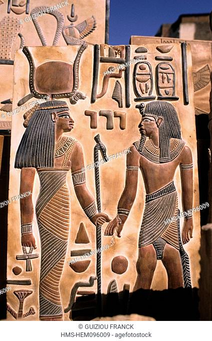 Egypt, Nile Valley, Luxor Region, west Thebes, handicraft in Gournah