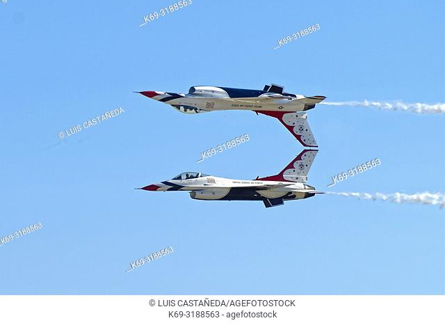 """""""""""""""""""""""The Thunderbirds"""""""". US Air Force Acrobatic Team. . The Thunderbirds are the air demonstration squadron of the United States Air Force (USAF)"""