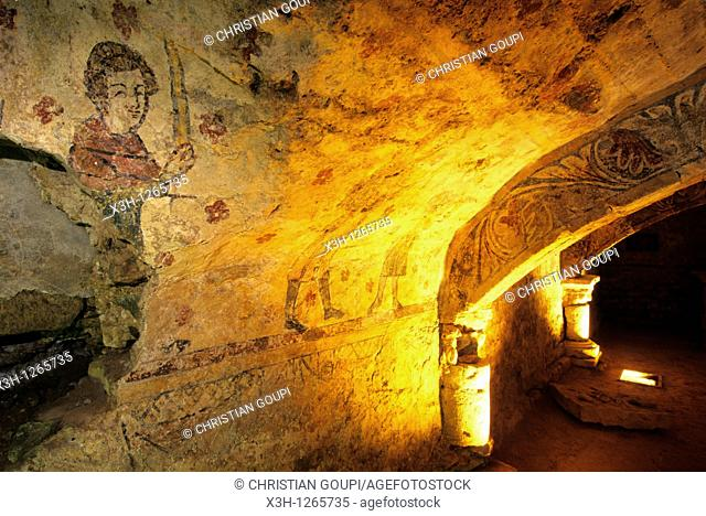 crypt of Alluy, Nievre department, region of Burgundy, center of France, Europe