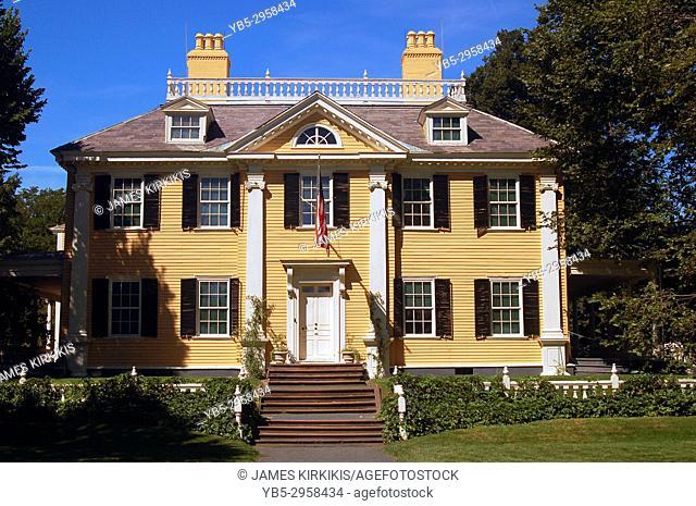 Historic Henry Wadsworth Longfellow House in Cambridge Massachusetts