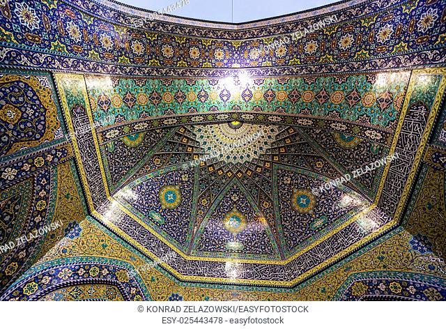 Details of Fatima Masumeh Shrine in Qom city in Iran