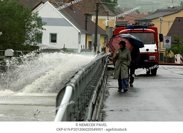 Floods in Svihov, Czech Republic, June 2, 2013. Uhlava river. (CTK Photo/Pavel Nemecek)
