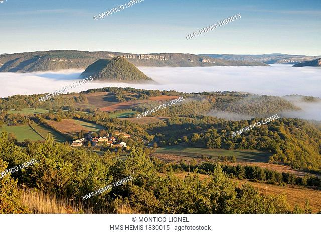 France, Aveyron, Nant, Regional Natural Park of Grands Causses, Valley Dourbie