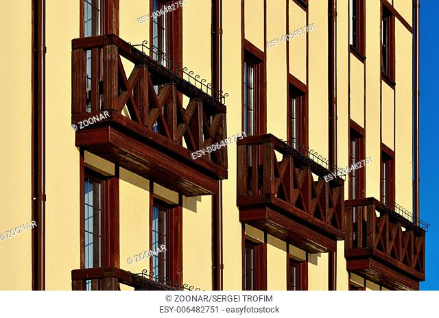 Beautiful wooden french balconies