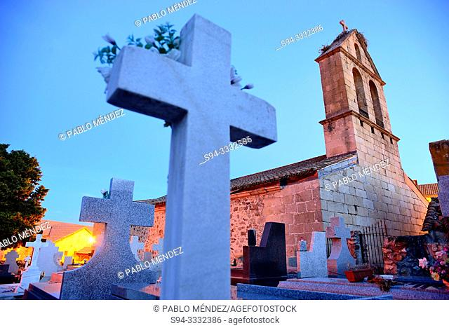 Church and cemetery of San Bartolome, Navalafuente, Madrid, Spain