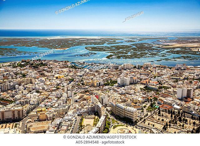 Faro. Ria Formosa, natural park. Faro district. Algarve. Portugal