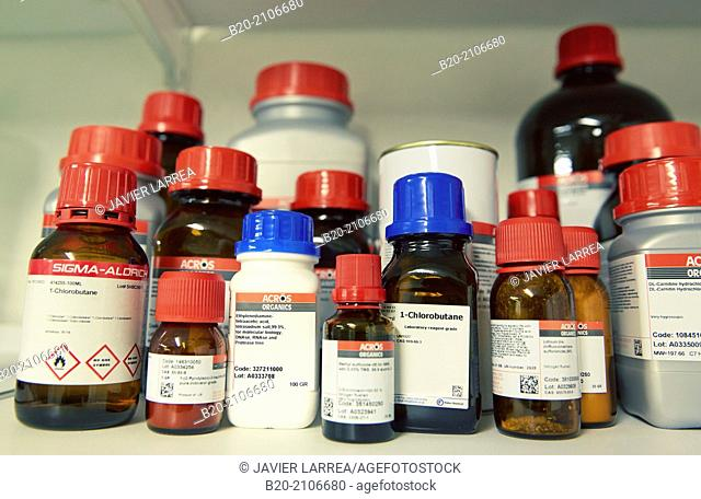 Chemical laboratory reagents. Laboratory characterization. Tecnalia Research and Innovation. Donostia. San Sebastian. Gipuzkoa. Basque Country. Spain