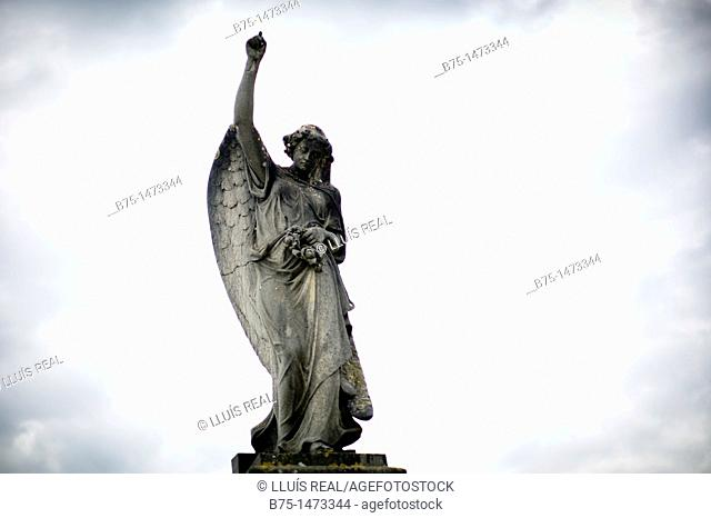 Figura religiosa, Angel en Cementerio, Cemetery