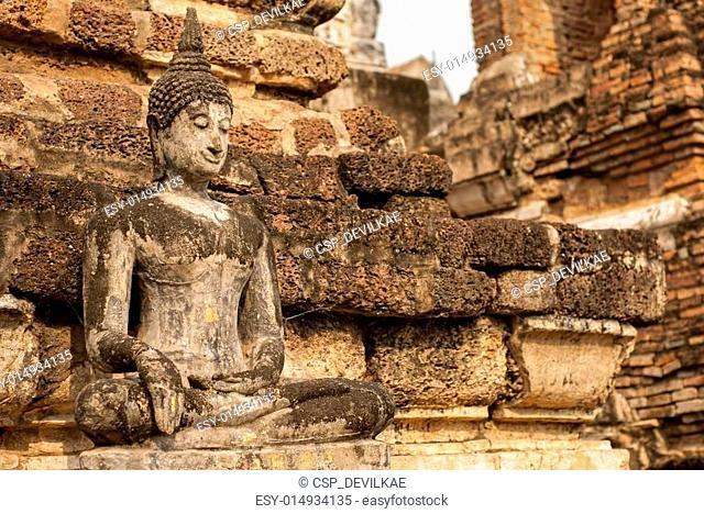 Buddha Sculpture Sukhothai, Thailan