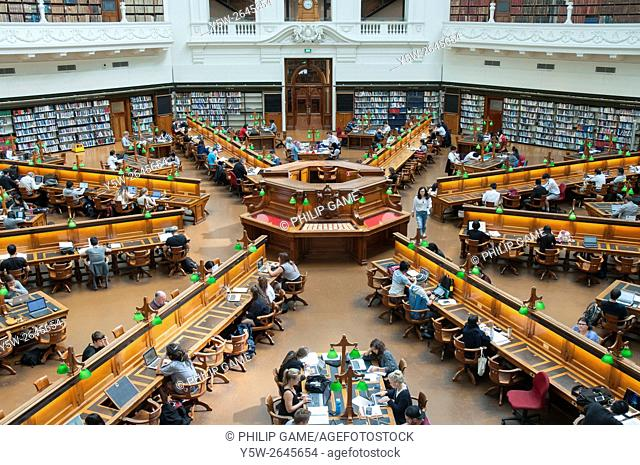 Historic Reading Room of the State Library of Victoria, Melbourne, Australia