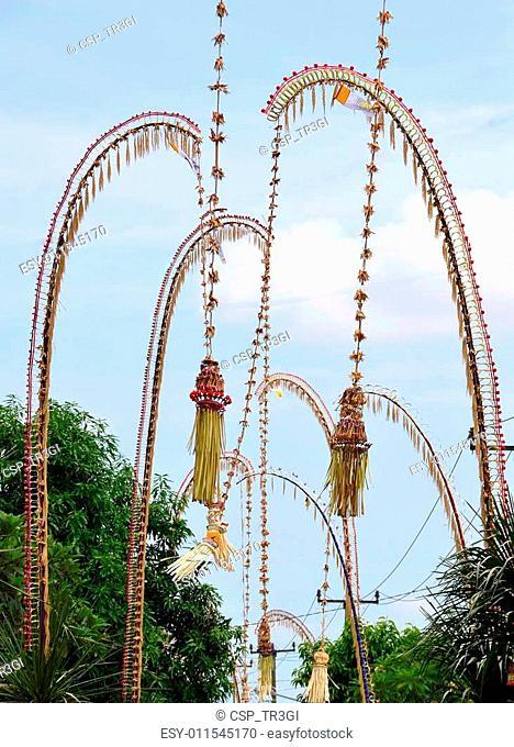 Penjor Balinese celebration of Galungan