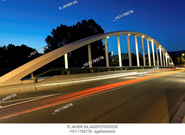 Artunduaga bridge, Basauri, Bizkaia, Basque Country, Spain