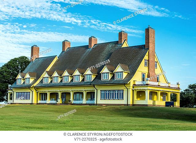 Restored Historic Home of Edwin C. Knight, built in 1920's, North Side, Whalehead Club in Currituck Heritage Park near Corolla, NC, USA