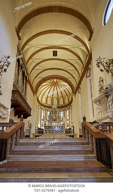 Vicenza, Veneto, Italy. Santa Corona is a Gothic-style, Roman Catholic church located in Vicenza, region of Veneto, Italy