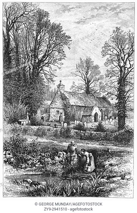 1870: The Old Church in Bonchurch, near Ventnor, was recorded in the Domesday Book. The nave and chancel dates from the 11th century