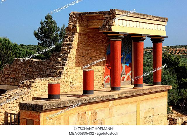 Crete, Knossos, palace complex of the Minoer, the bastion