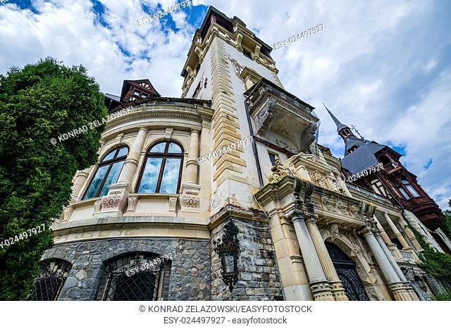 Peles Castle near Sinaia city in Romania