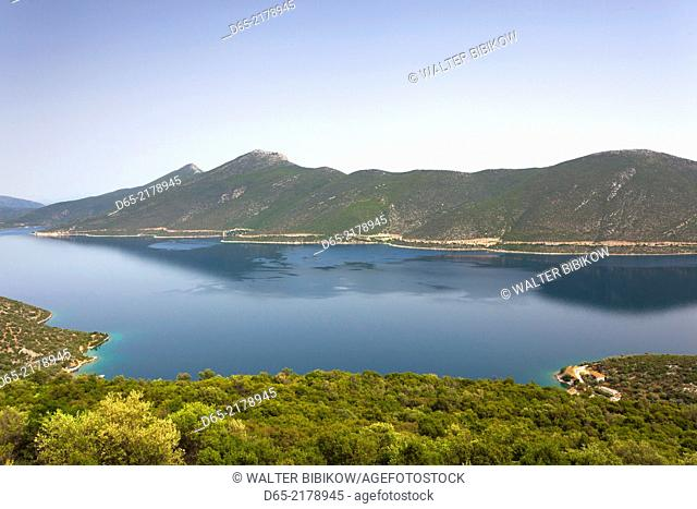 Greece, Thessaly Region, Trikeri, Pelion Peninsula, elevated view of the Pagasitikos Gulf