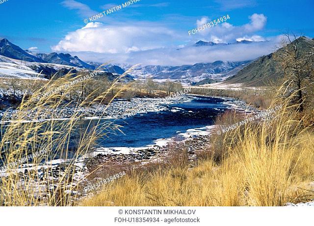 East Siberia, Eatern Siberia, Siberia, autumn, fall, landscape, mountainous