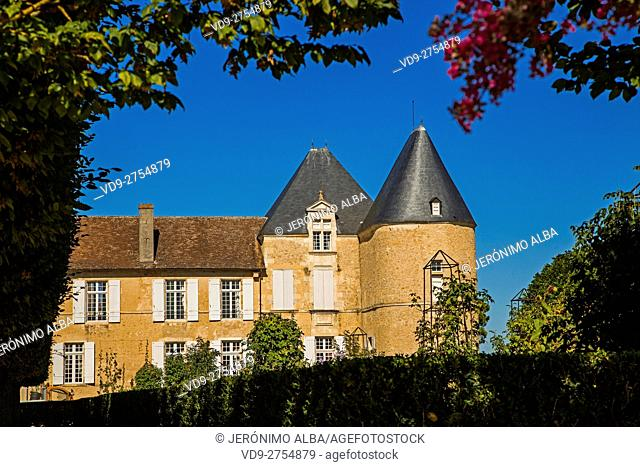 Chateau Yquem & vineyard. Sauternes Region, Bordeaux, Aquitaine France Europe