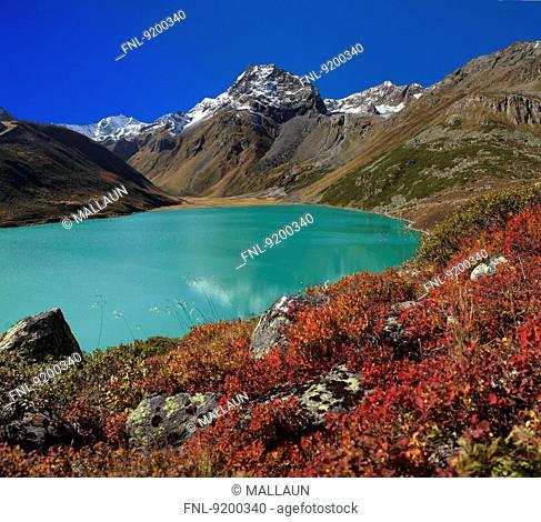 Rifflsee, Oeztal Alps, Pitztal, Tyrol, Austria, Europe