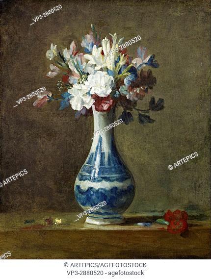 Jean-Baptiste Siméon Chardin - A Vase of Flowers - National Galleries of Scotland