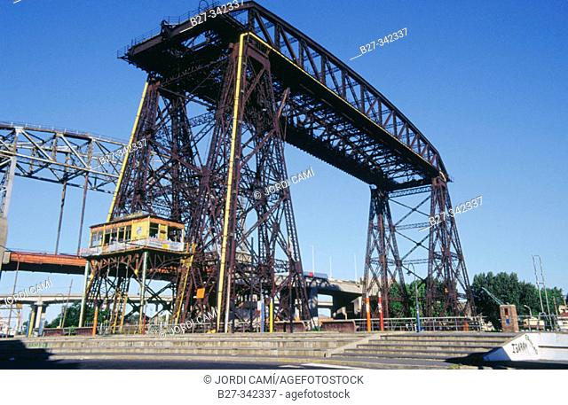 Transporter Bridge. La Boca neighbourhood. Buenos Aires. Argentina