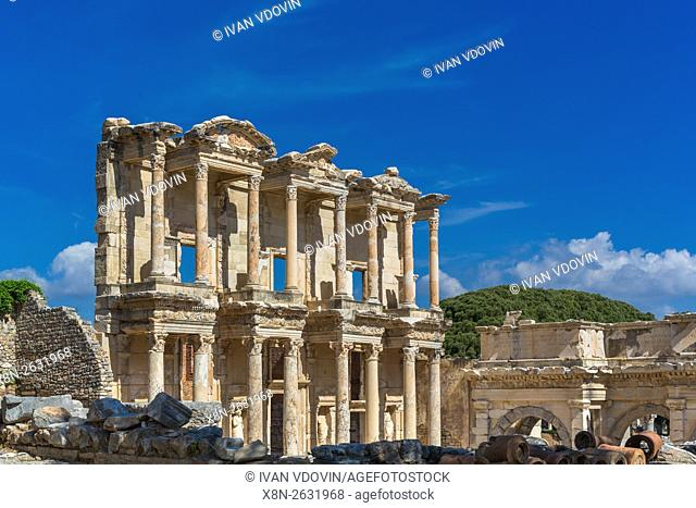 Library of Celsus, Ruins of ancient Ephesus, Selcuk, Izmir Province, Turkey