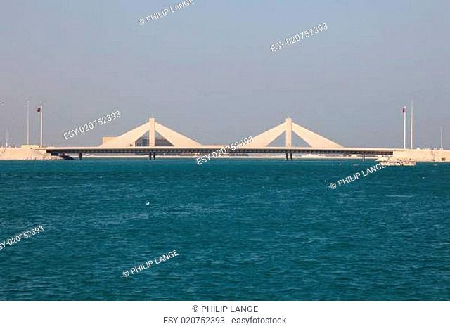 Sheikh Isa Bin Salman Causeway Bridge in Bahrain