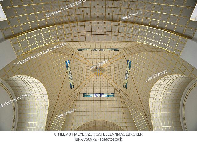 Dome of the Church of St. Leopold at Steinhof, built 1904-1907, designed by Otto Wagner, most important building of the Viennese Art Nouveau, Vienna