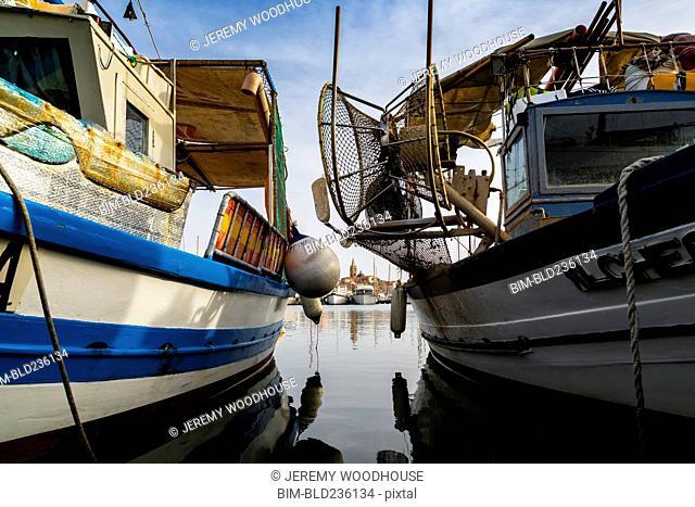 Boats in marina, Alghero, Provincia di Sassari, Italy